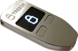 Trezor hardware wallet for cold storage of ether, bitcoin, litecoin, and other cryptocurrencies