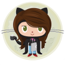 github coder girl with laptop and coffee